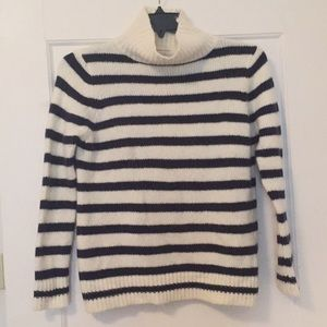 Zara Striped Turtleneck Sweater, Sz Small